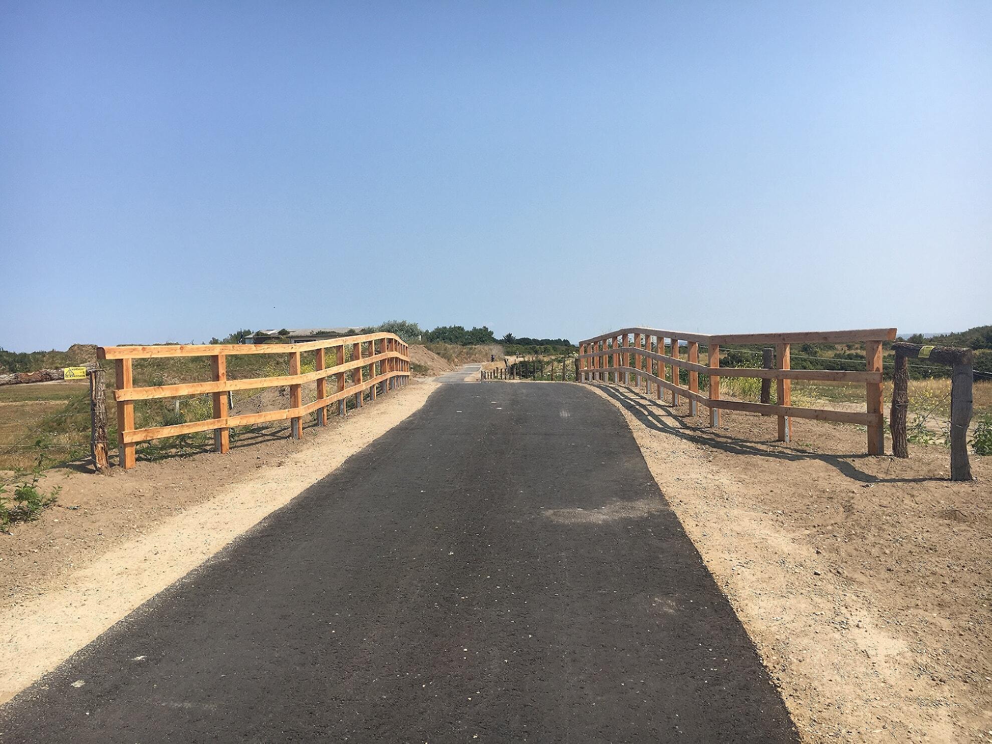 neuer Radweg auf dem Fliegerhorst