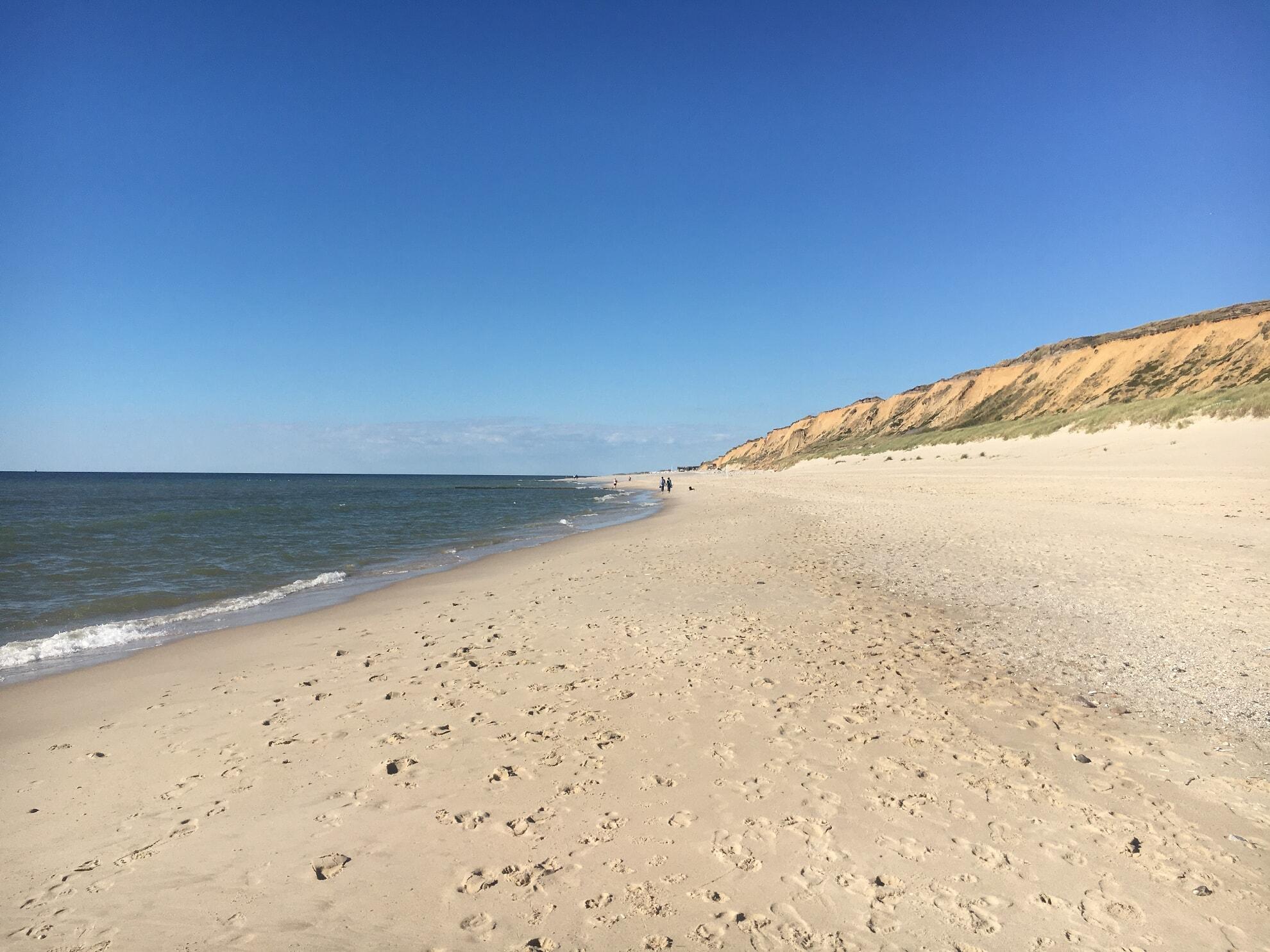 Strand am Roten Kliff