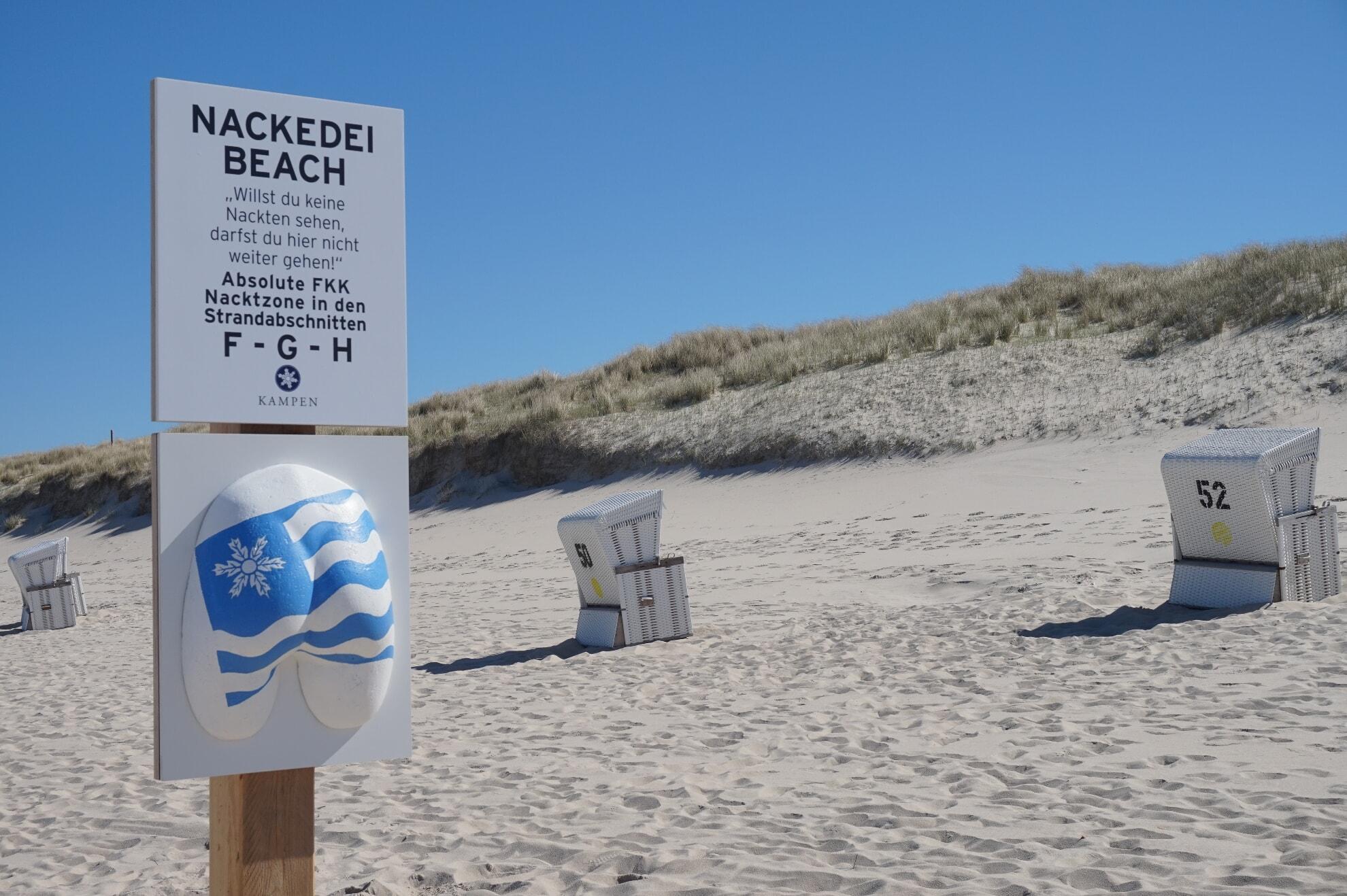 Nackedei-Beach in Kampen